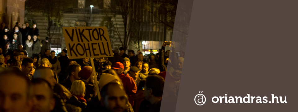 Nem Némulunk El tüntetés 2014 11. 17. Kossuth-tér, Budapest