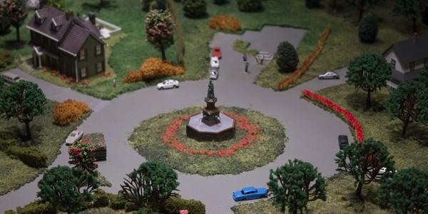 Az amerikai tematika legkevésbé szerencsés darabja, a kertváros. Hiányolom a fehér kerítéseket!