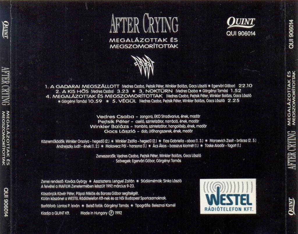 After Crying – Az 50 legjobb magyar dal