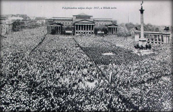 1957 május 1. felvonulás